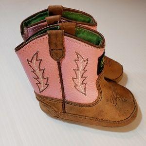 John Deere Leather Infant Boots size 3 months